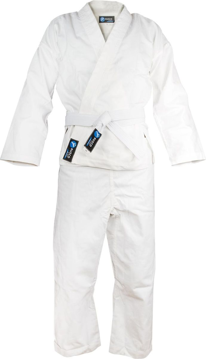Кимоно для карате детское Rusco, цвет: белый. УТ-00008386. Размер 000/110Кимоно УТ-0000Кимоно для карате Rusco - это удобная и практичная форма для тренировок и поединков. Идеально подходит для начинающих. В комплекте: кимоно, брюки, пояс.