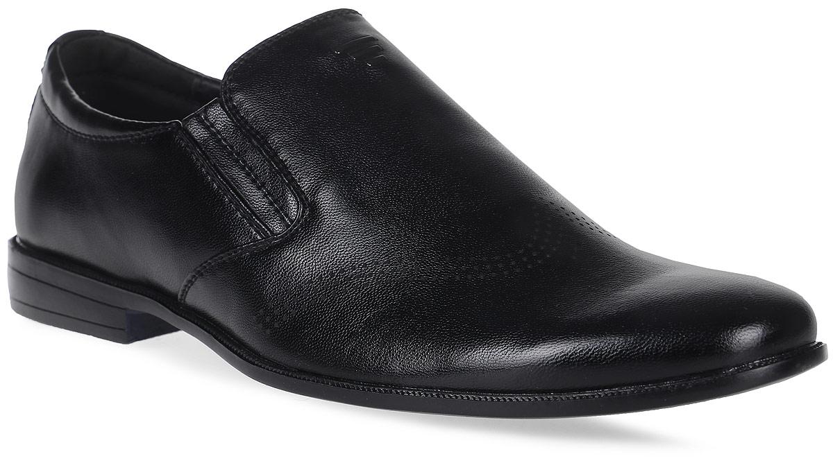 Туфли для мальчика Patrol, цвет: черный. 754-051NK-17w-01-1. Размер 41754-051NK-17w-01-1Стильные туфли для мальчика от Patrol выполнены из искусственной кожи. Подкладка и стелька, выполненные из натуральной кожи, обеспечивают отличную амортизацию и максимальный комфорт, позволяют ногам дышать. Модель дополнена небольшим классическим каблучком.