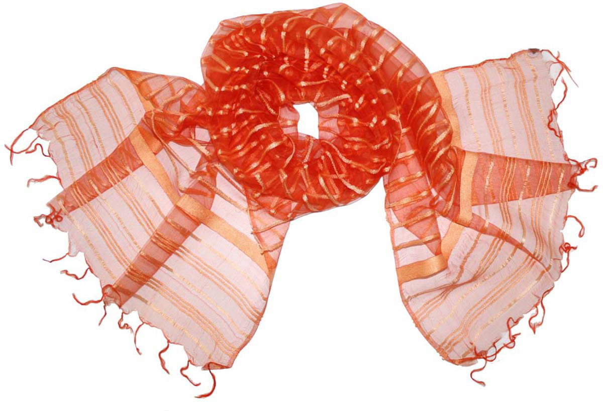 Шарф женский Ethnica, цвет: морковный. 484150н. Размер 65 см х 180 см484150нСтильный шарф привлекательной расцветки с кисточками по краю изготовлен из 100% вискозы. Он удачно дополнит ваш гардероб и поможет создать новый повседневный образ, добавить в него яркие краски. Отличный вариант для тех, кто стремится к самовыражению и новизне!