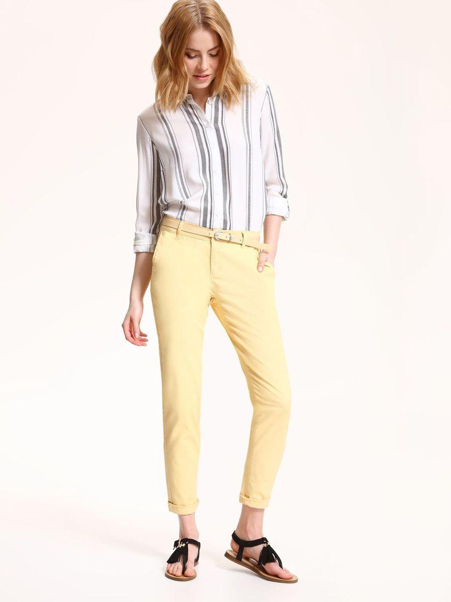 Брюки женские Top Secret, цвет: желтый. SSP2532ZO. Размер 34 (42)SSP2532ZOСтильные женские брюки Top Secret - брюки высочайшего качества на каждыйдень, которые прекрасно сидят. Модель изготовлена из хлопка с добавлением эластана.Спереди по бокам имеются два прорезных кармана. Пояс оснащен шлевками.Модные и комфортные брюки послужат отличным дополнением к вашему гардеробу, в них вы всегда будете чувствовать себя уютно и комфортно.
