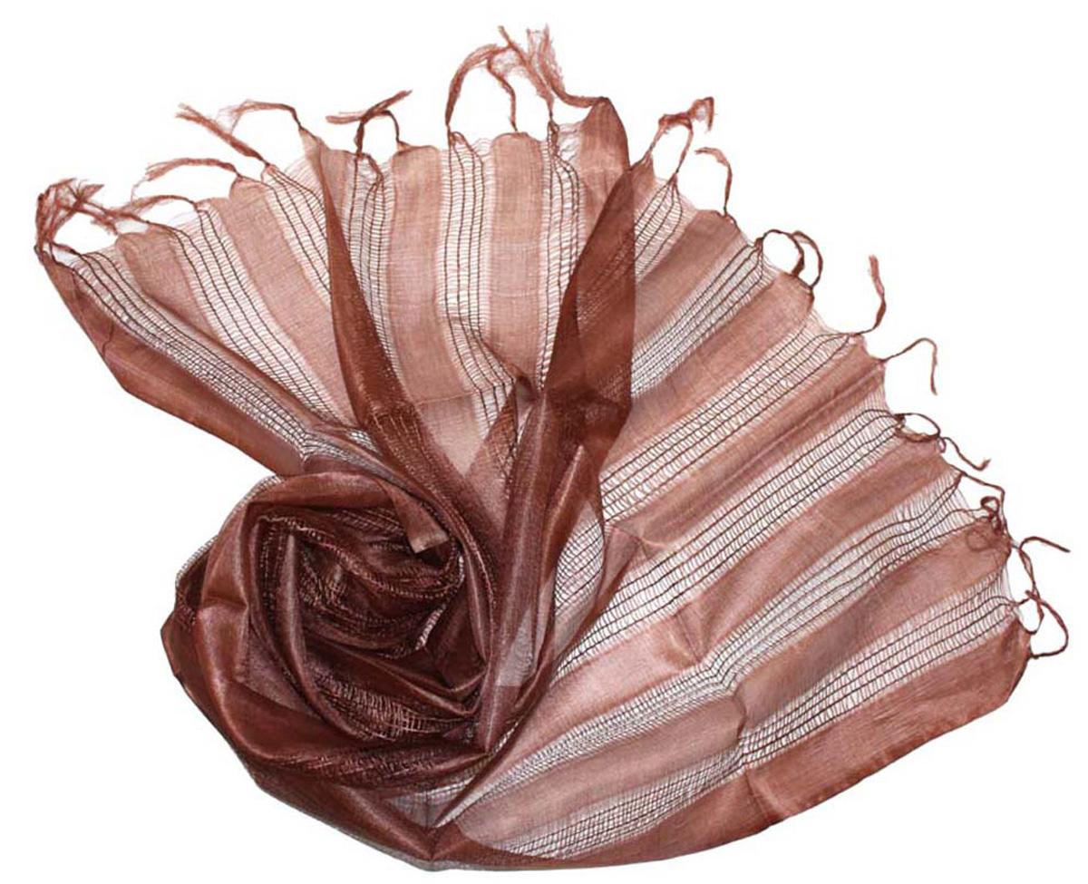 Шарф женский Ethnica, цвет: шоколадный. 155125н. Размер 56 см х 183 см155125нСтильный шарф привлекательной расцветки с кисточками по краю изготовлен из 100% шелка. Он удачно дополнит ваш гардероб и поможет создать новый повседневный образ, добавить в него яркие краски. Отличный вариант для тех, кто стремится к самовыражению и новизне!