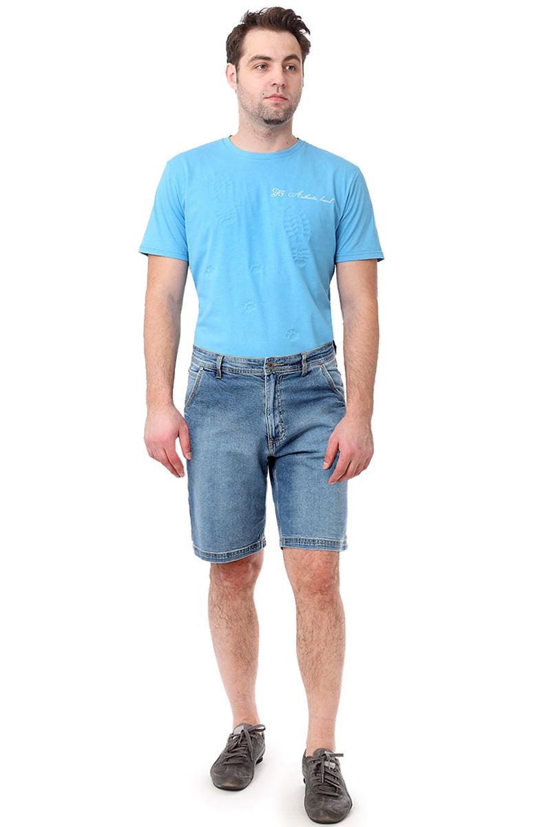 Шорты мужские F5, цвет: синий. 14478_0863. Размер 29 (44/46)14478_0863, Blue denim str., w.mediumМужские шорты F5 выполнены из хлопка с небольшим добавлением эластана. Застегиваются шорты на пуговицу в поясе и ширинку на застежке-молнии, имеются шлевки для ремня. Модель дополнена двумя втачными карманами и одним накладным кармашком спереди, а также тремя накладными карманами сзади.