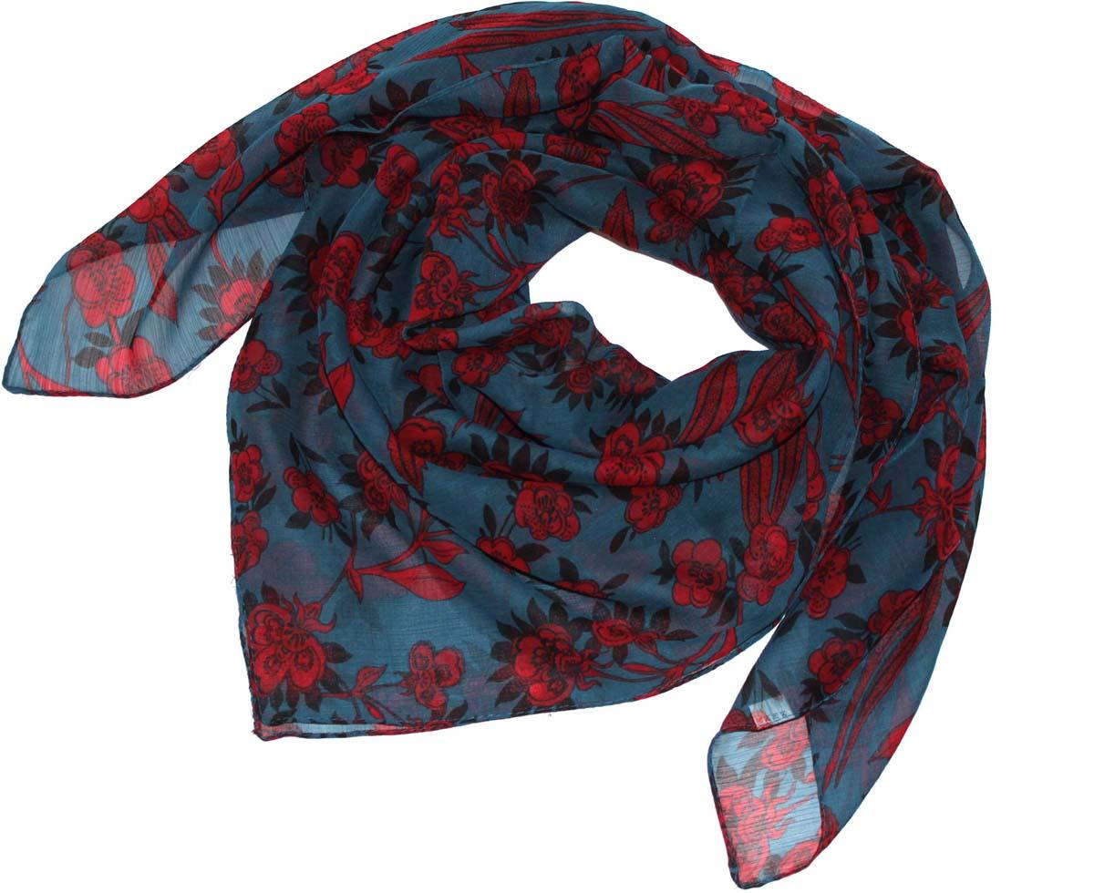 Платок женский Ethnica, цвет: бирюзовый, красный. 524040н. Размер 90 см х 90 см524040нСтильный платок привлекательной расцветки изготовлен из 100% вискозы. Он удачно дополнит ваш гардероб и поможет создать новый повседневный образ, добавить в него яркие краски. Отличный вариант для тех, кто стремится к самовыражению и новизне!