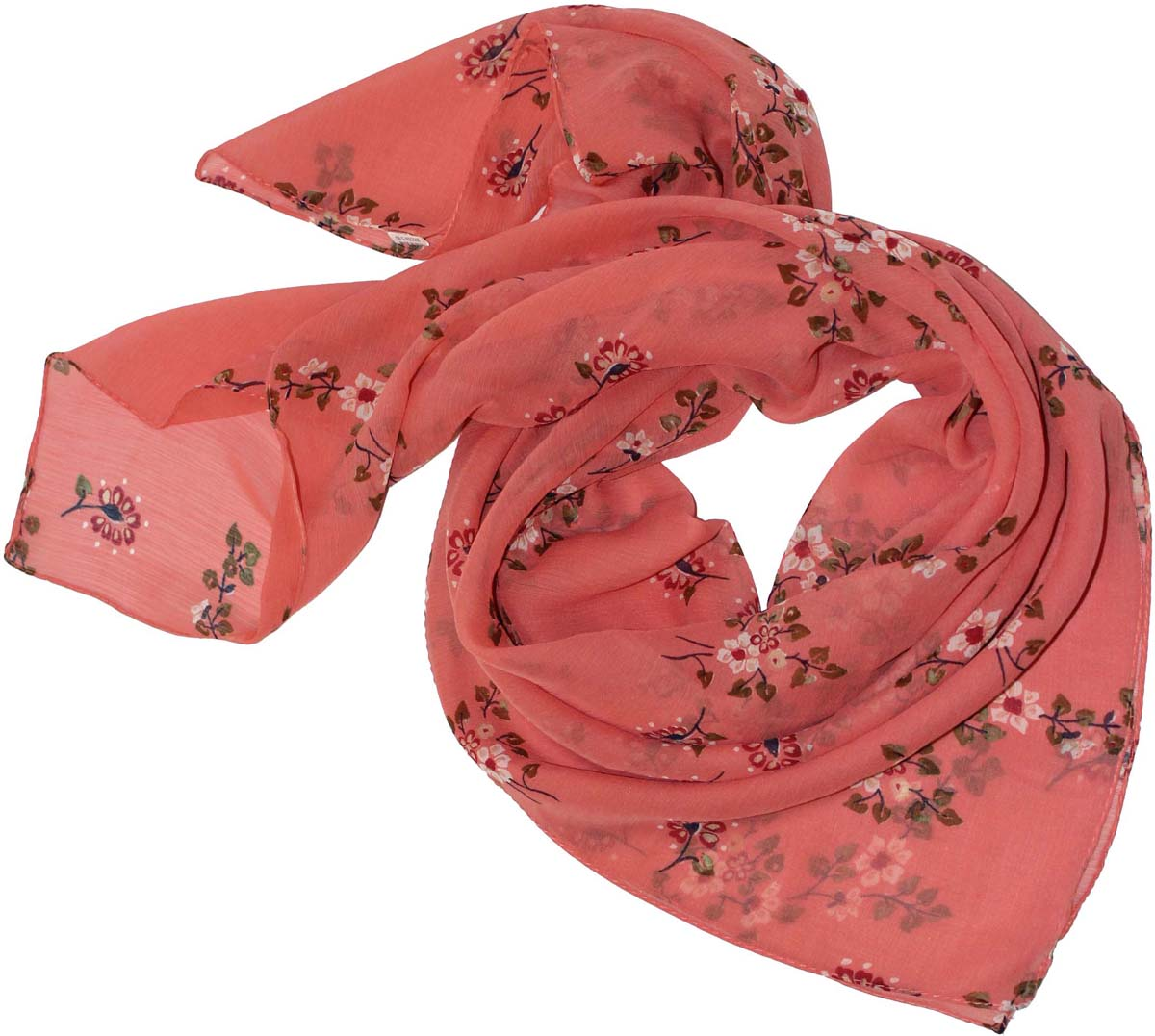 Платок женский Ethnica, цвет: коралловый, бежевый. 524040н. Размер 90 см х 90 см524040нСтильный платок привлекательной расцветки изготовлен из 100% вискозы. Он удачно дополнит ваш гардероб и поможет создать новый повседневный образ, добавить в него яркие краски. Отличный вариант для тех, кто стремится к самовыражению и новизне!
