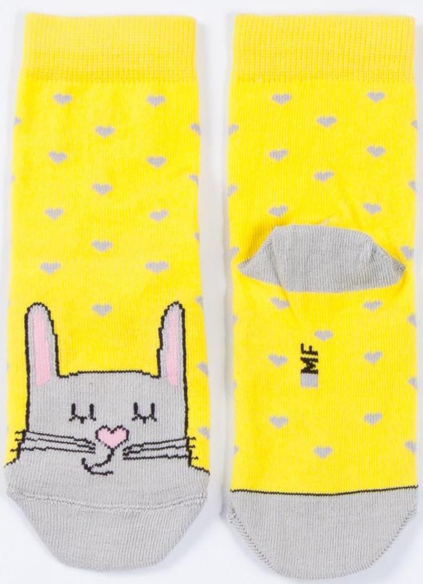 Носки для девочки Mark Formelle, цвет: лимонный. B2-6400K_343. Размер 12B2-6400K_343Мягкие носки для девочки Mark Formelle изготовлены из хлопка с добавлением полиамида и эластана. Ткань очень приятная на ощупь, хорошо тянется, не деформируясь. Эластичная резинка мягко облегает ножку ребенка, обеспечивая удобство и комфорт. Модель оформлена принтом. Удобные и прочные носочки станут отличным дополнением к детскому гардеробу.