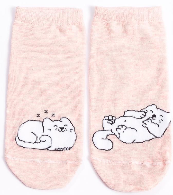 Носки женские Mark Formelle, цвет: розовый. 300K-497_9065. Размер 23 (36/37)300K-497_9065Удобные носки Mark Formelle, изготовленные из высококачественного комбинированного материала, очень мягкие и приятные на ощупь, позволяют коже дышать. Эластичная резинка плотно облегает ногу, не сдавливая ее, обеспечивая комфорт и удобство. Модель с укороченным паголенком дополнена принтом. Практичные и комфортные носки великолепно подойдут к любой вашей обуви.