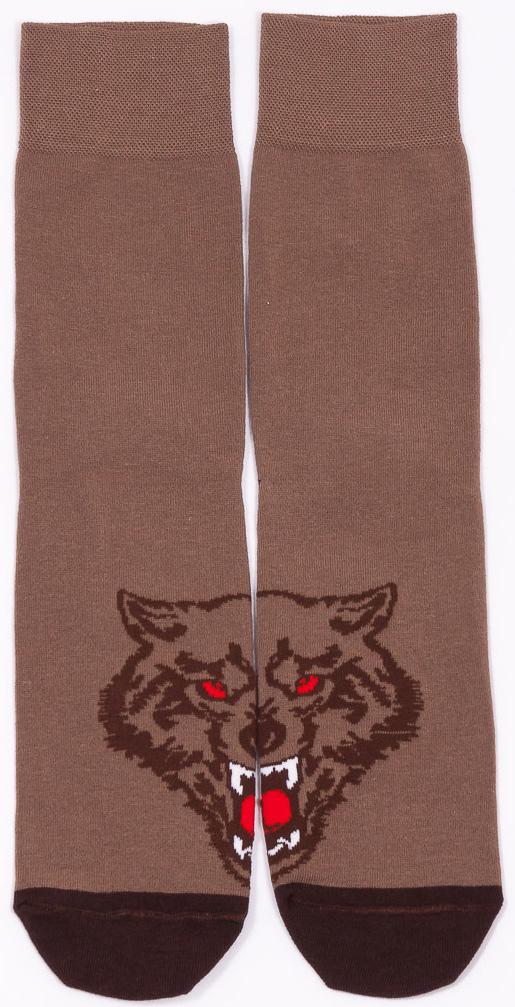 Носки мужские Mark Formelle, цвет: коричневый. 004K_300. Размер 25 (40/41)004K_300Удобные носки Mark Formelle, изготовленные из высококачественного комбинированного материала, очень мягкие и приятные на ощупь, позволяют коже дышать. Эластичная резинка плотно облегает ногу, не сдавливая ее, обеспечивая комфорт и удобство. Модель дополнена принтом. Практичные и комфортные носки великолепно подойдут к любой вашей обуви.