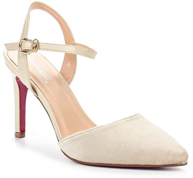 Туфли женские Vivian Royal, цвет: бежевый. D053-1. Размер 36D053-1Стильные женские туфли от Vivian Royal не оставят вас незамеченной! Модель изготовлена из качественной искусственной кожи. Туфли выполнены с открытой пяткой и тонким ремешком с пряжкой. Подошва выполнена с тонким каблуком средней высоты.