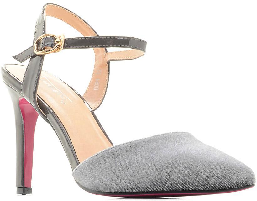 Туфли женские Vivian Royal, цвет: серый. D054-1. Размер 37D054-1Стильные женские туфли от Vivian Royal не оставят вас незамеченной! Модель изготовлена из качественной искусственной кожи. Туфли выполнены с открытой пяткой и тонким ремешком с пряжкой. Подошва выполнена с тонким каблуком средней высоты.