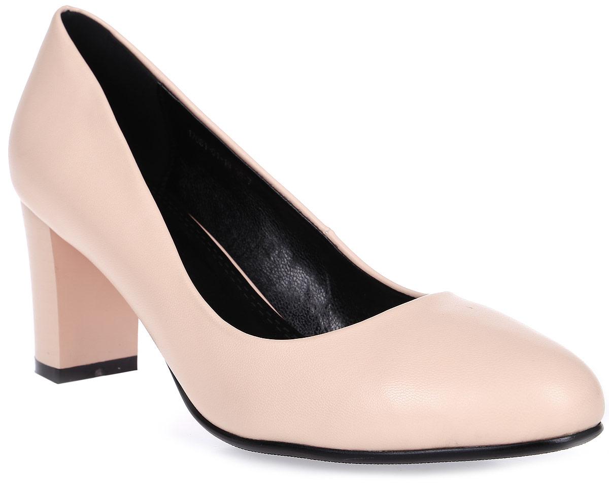 Туфли женские Inario, цвет: розовый. 17081-01-19. Размер 3517081-01-19Туфли Inario выполнены из искусственной кожи. Внутренняя поверхность и стелька из искусственной кожи обеспечат комфорт при движении. Подошва выполнена из полимера. Модель имеет круглый мысок и низкий широкий каблук.