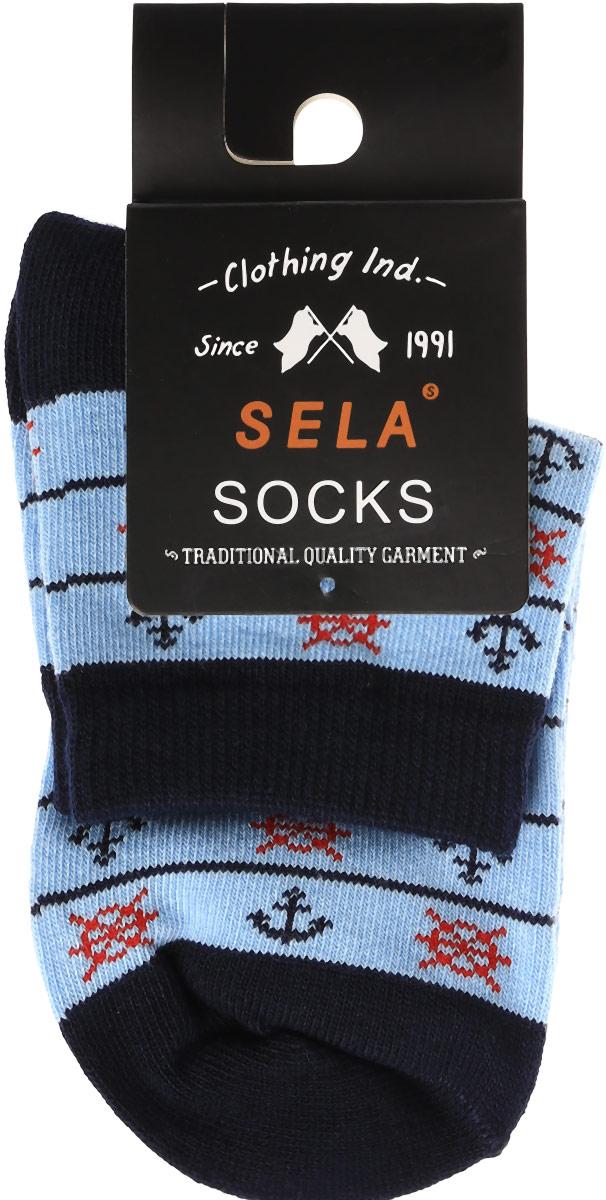 Носки для мальчика Sela, цвет: пастельно-голубой. SOb-7854/037-7102. Размер 18/20SOb-7854/037-7102Носки для мальчика Sela - отличный вариант для повседневной носки. Носки изготовлены из эластичного хлопка с добавлением полиамида и оформлены оригинальным принтом.Мягкая эластичная резинка надежно фиксирует носки на ноге, не доставляя дискомфорта. Уважаемые клиенты! Размер, доступный для заказа, является длиной стопы.