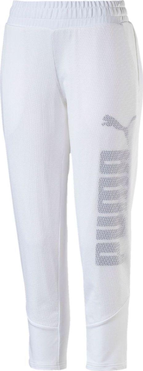 Брюки спортивные женские Puma Pwr Swagger Pants W, цвет: белый. 59078802. Размер XXS (38/40)59078802Спортивные брюки Puma Pwr Swagger Pants W подходят как для прогулок, так и для занятий спортом. Изготовлены с использованием высокофункциональной технологии dryCELL, которая отводит влагу, поддерживает тело сухим и гарантирует комфорт. Декорированы набивным рисунком c прорезиненными деталями. Пояс дополнен затягивающимся шнуром. Перед отделан сетчатым материалом. Имеются боковые карманы. Изделие имеет стандартную посадку.