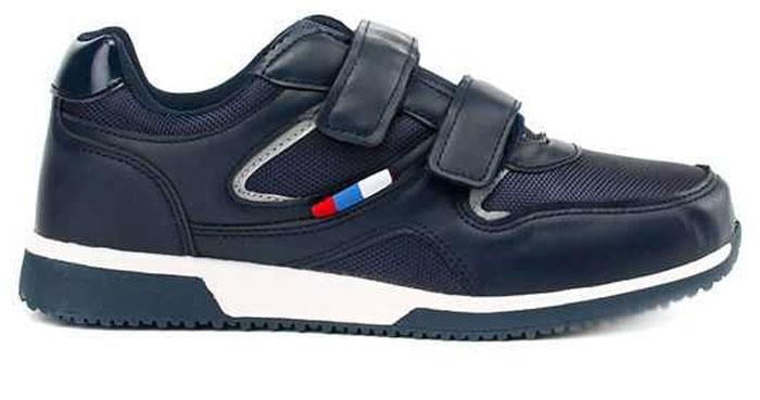Кроссовки для мальчика Зебра, цвет: темно-синий. 10955-5. Размер 4110955-5Стильные кроссовки от Зебра выполнены из текстиля со вставками из искусственной кожи. Застежки-липучки обеспечивают надежную фиксацию обуви на ноге ребенка. Подкладка выполнена из текстиля, что предотвращает натирание и гарантирует уют. Стелька с поверхностью из натуральной кожи оснащена небольшим супинатором, который обеспечивает правильное положение ноги ребенка при ходьбе и предотвращает плоскостопие. Подошва с рифлением обеспечивает идеальное сцепление с любыми поверхностями.