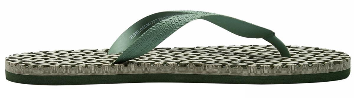 Сланцы мужские oodji, цвет: зеленый, белый. 9L3NL005M/22728/6212O. Размер 42 (41)9L3NL005M/22728/6212OСланцы от oodji незаменимы для пляжного сезона. Резиновая перемычка между пальцами отвечает за надежную фиксацию модели на ноге.