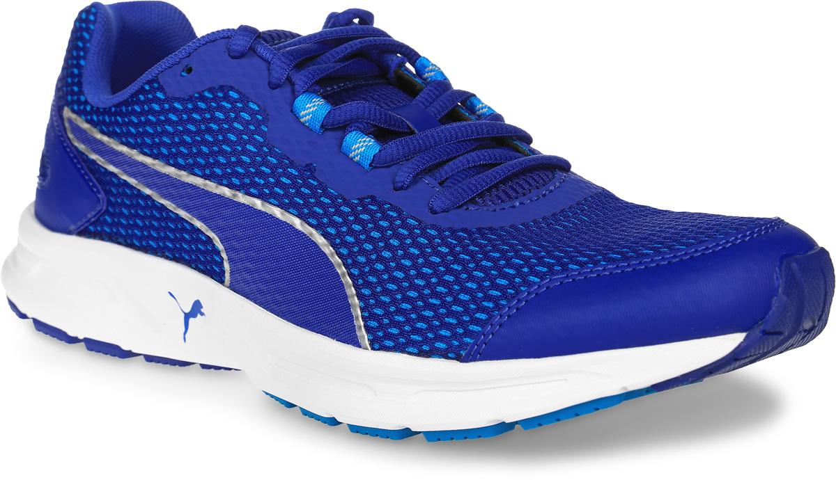 Кроссовки мужские для бега Puma Descendant V4, цвет: синий. 18905610. Размер 9 (42)18905610Модель Descendant V4 предназначена для современных атлетов, увлекающихся различными видами спорта, которым требуется отличная беговая обувь. Опираясь на технологические достижения, воплощенные в флагманской модели Speed Ignite 500, созданы такие кроссовки, в которых удобно совершенствовать технику бега. Динамичные силуэт и малый вес Descendant V4 превращают постижение философии бега в удовольствие.