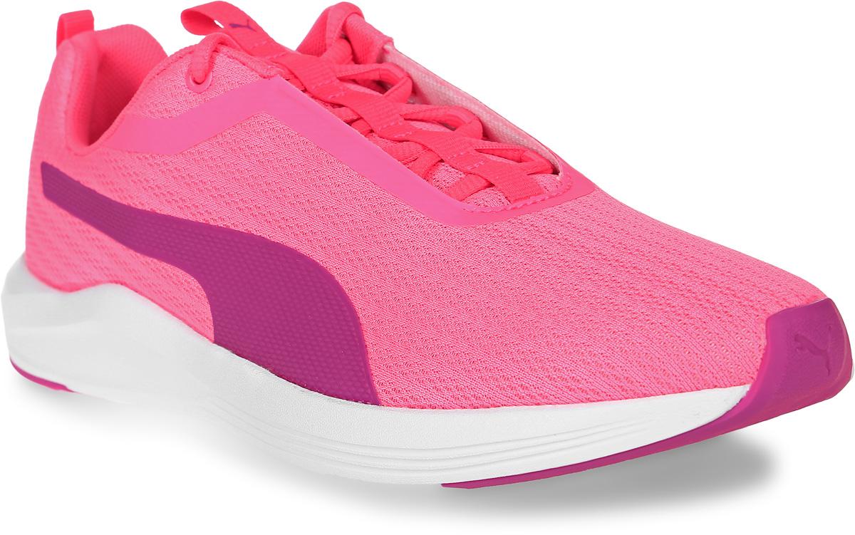 Кроссовки женские для фитнеса Puma Prowl Wn S, цвет: розовый. 18946802. Размер 6,5 (39)18946802Сверхлегкие и эластичные, кроссовки Prowl Wn предназначены специально для женщин и подходят как для занятий на свежем воздухе, так и для тренировок в зале. Оригинальная конструкция верха из бесшовного сетчатого материала делают модель прекрасно вентилируемой и очень удобной в носке. Традиционная шнуровка вместе с мягким язычком обеспечивает надежную фиксацию ноги. В таких кроссовках вашим ногам будет комфортно и уютно. Они подчеркнут ваш стиль и индивидуальность!