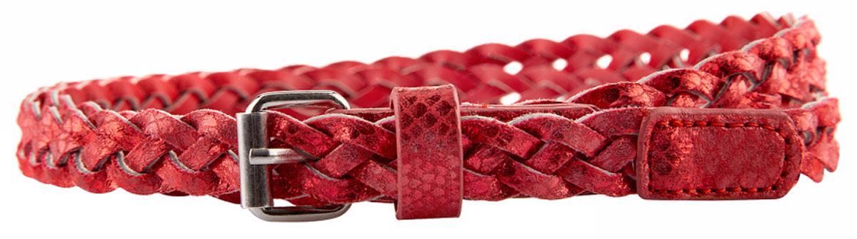 Ремень женский oodji, цвет: красный. 45102176/33205/4500X. Размер 10545102176/33205/4500XПлетеный ремень oodji выполнен из искусственной кожи и оформлен пряжкой..