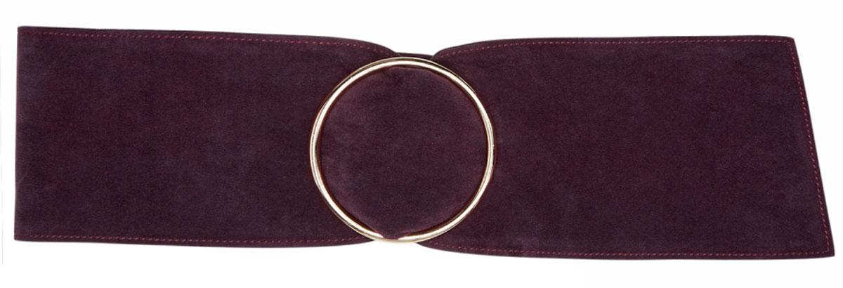 Ремень женский oodji, цвет: темно-фиолетовый. 45100100/19836/8800N. Размер 9545100100/19836/8800NПояс широкий из искусственной замши