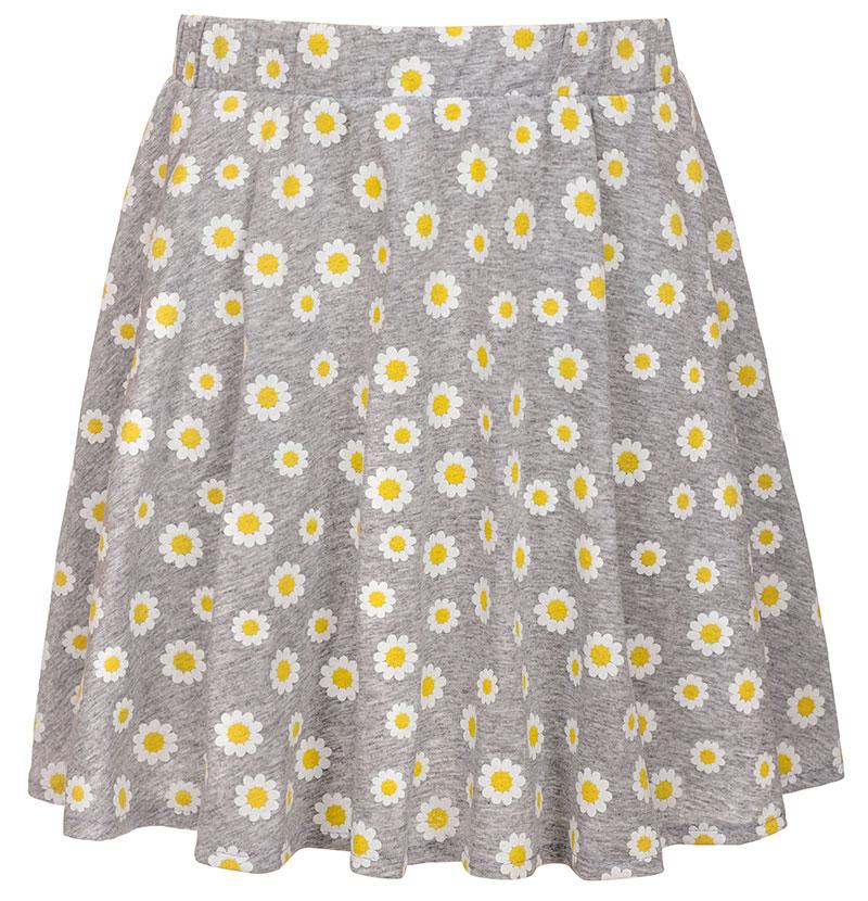 Юбка для девочки M&D, цвет: серый, желтый. SJA27074M77. Размер 128SJA27074M77Юбка для девочки M&D подойдет вашей маленькой моднице и станет отличным дополнением к ее гардеробу. Изготовленная из натурального хлопка, она мягкая и приятная на ощупь, не сковывает движения и позволяет коже дышать. Модель на поясе имеет широкую трикотажную резинку, благодаря чему юбка не сползает и не сдавливает животик ребенка. Модель оформлена принтом в ромашку. В такой юбочке ваша маленькая принцесса будет чувствовать себя комфортно, уютно и всегда будет в центре внимания!