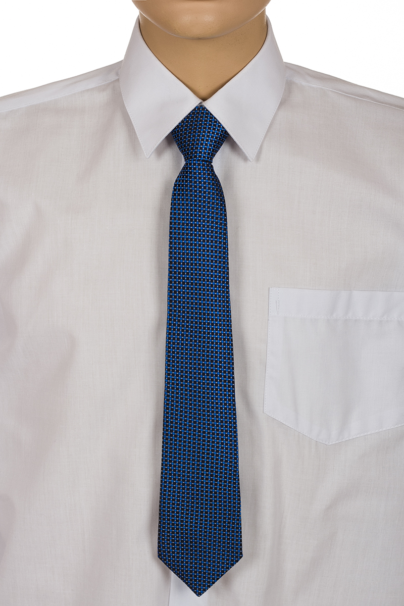 Галстук для мальчика Brostem, цвет: синий, черный. RKCAL0109. Размер универсальныйRKCAL0109Модный галстук для мальчика Brostem изготовлен из качественного полиэстера. Такой аксессуар придаст юному кавалеру солидности.