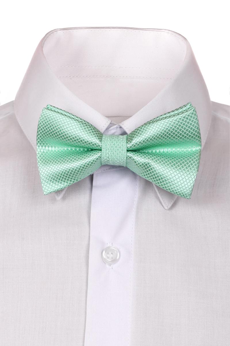 Галстук-бабочка для мальчика Brostem, цвет: мятный. RBAB87. Размер универсальныйRBAB87Модный галстук-бабочка для мальчика Brostem изготовлен из качественного полиэстера. Такой аксессуар придаст юному кавалеру солидности.