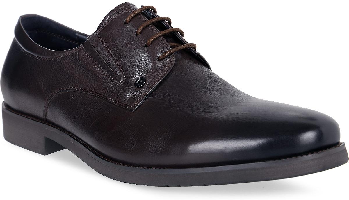 Полуботинки мужские Renaissance Elite, цвет: темно-коричневый. 16200Z-5-2K. Размер 4516200Z-5-2KСтильные мужские полуботинки Renaissance выполнены из натуральной кожи. Удобная шнуровка надежно фиксирует модель на стопе. Такие полуботинки отлично подойдут для тех, кто хочет подчеркнуть свою индивидуальность. В этой обуви вы будете чувствовать себя комфортно и в офисе, и на молодежной вечеринке.