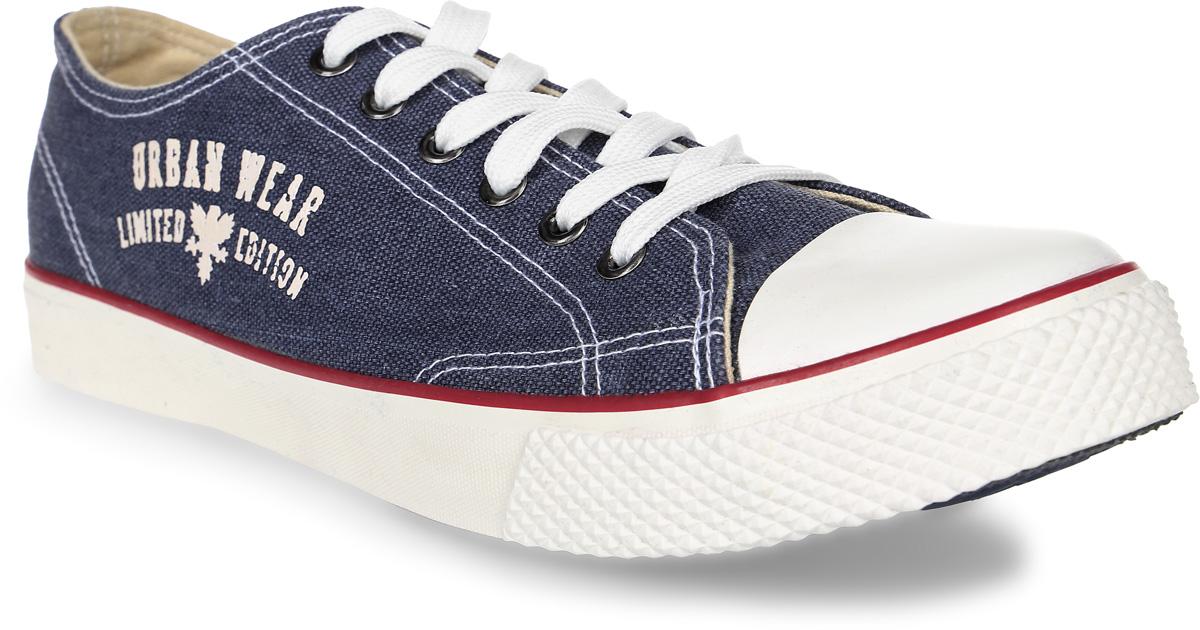Кеды мужские Beppi, цвет: синий. 2155330. Размер 402155330Легкие мужские кеды выполнены из текстиля. Классическая шнуровка надежно зафиксирует модель на ноге. Резиновая подошва дополнена рифлением.