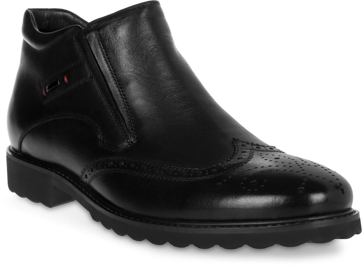 Ботинки мужские Renaissance Elite, цвет: черный. 16219Z-2-1F. Размер 4316219Z-2-1FСтильные мужские ботинки Renaissance выполнены из натуральной кожи. Такие ботинки отлично подойдут для тех, кто хочет подчеркнуть свою индивидуальность. В этой обуви вы будете чувствовать себя комфортно и в офисе, и на молодежной вечеринке.