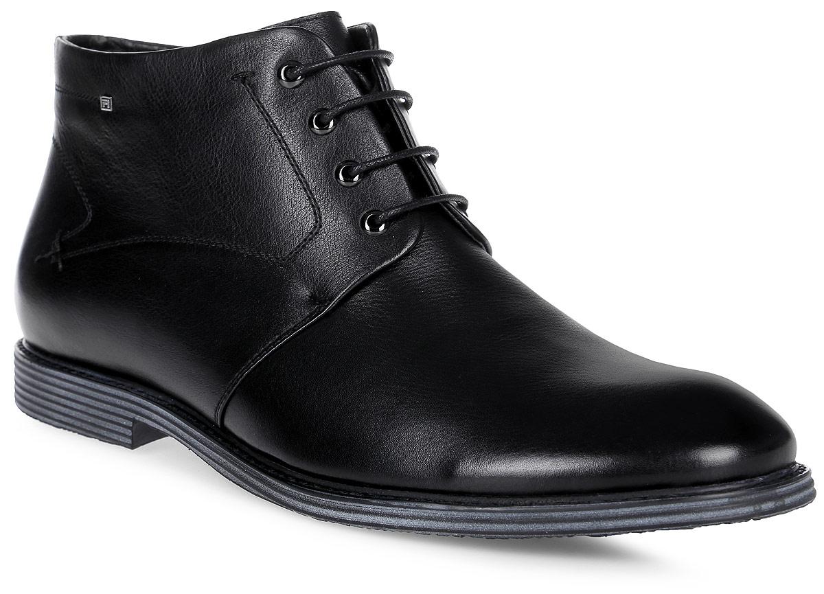 Ботинки мужские Renaissance Elite, цвет: черный. 16220Z-4-1F. Размер 4516220Z-4-1FСтильные мужские ботинки Renaissance выполнены из натуральной кожи. Удобная шнуровка надежно фиксирует модель. Такие ботинки отлично подойдут для тех, кто хочет подчеркнуть свою индивидуальность. В этой обуви вы будете чувствовать себя комфортно и в офисе, и на молодежной вечеринке.