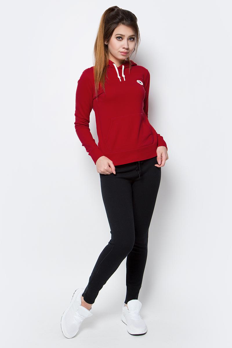 Толстовка женская Converse Knitted LS hoodie, цвет: красный. 10003138934. Размер M (46)10003138934Толстовка женская Converse изготовлена из мягкого натурального хлопка. Модель выполнена с длинными рукавами и капюшоном. Толстовка дополнена карманом-кенгуру, эластичными резинками по низу изделия и на манжетах рукавов.