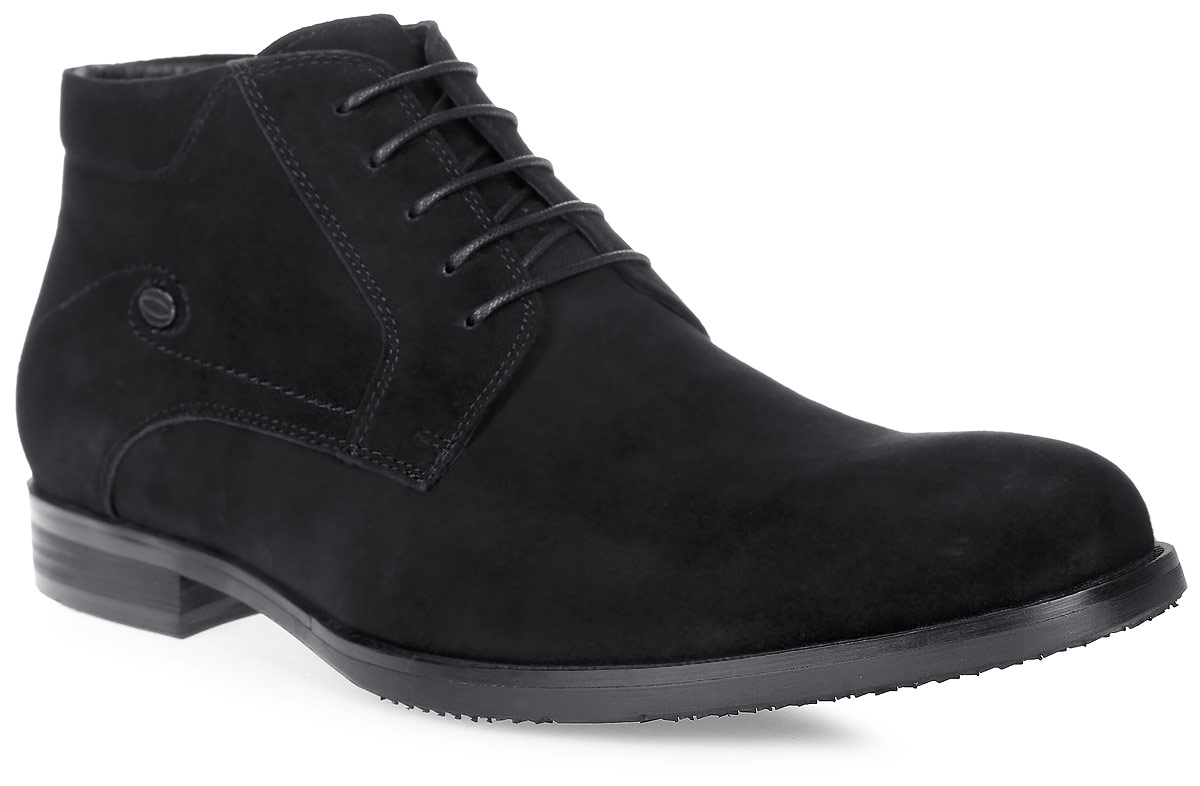 Ботинки мужские Renaissance Elite, цвет: черный. 16212Z-8-1M. Размер 4316212Z-8-1MСтильные мужские ботинки Renaissance выполнены из натуральной кожи. Удобная шнуровка надежно фиксирует модель на стопе. Такие ботинки отлично подойдут для тех, кто хочет подчеркнуть свою индивидуальность. В этой обуви вы будете чувствовать себя комфортно и в офисе, и на молодежной вечеринке.