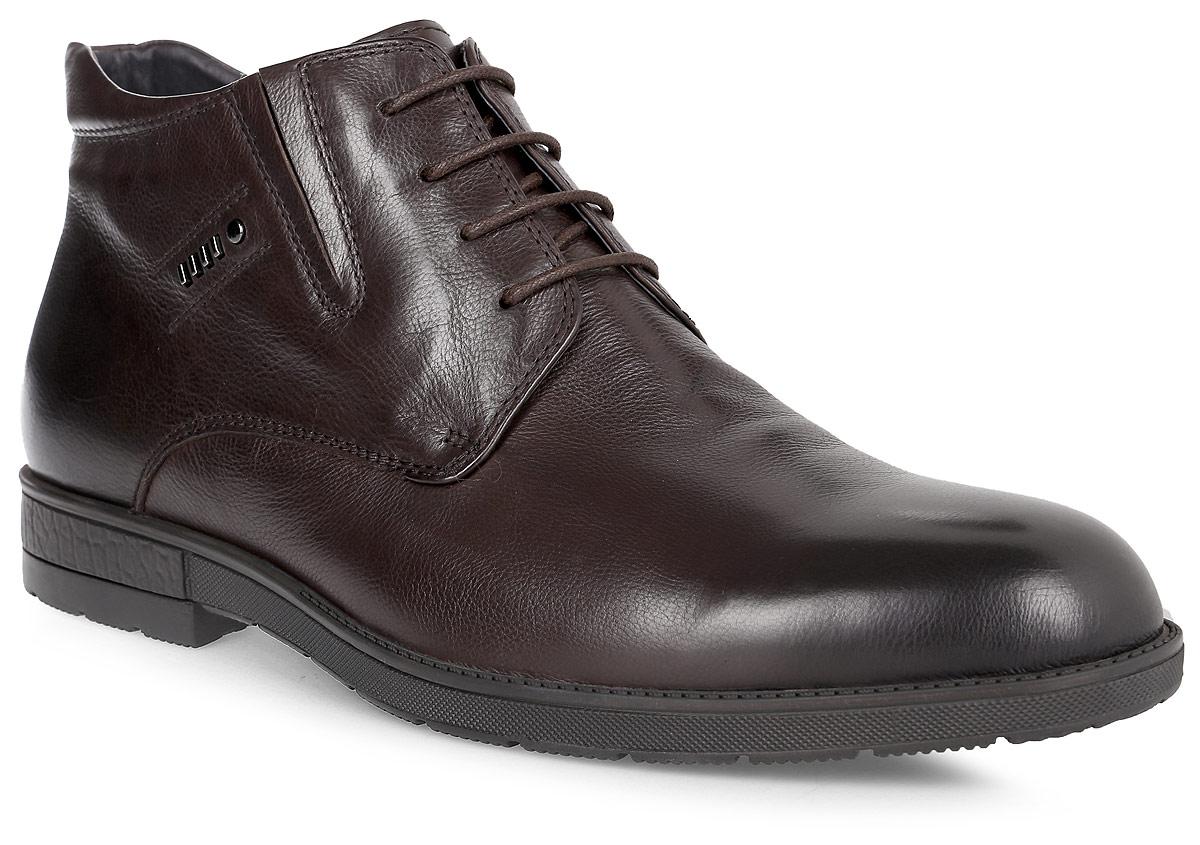 Ботинки мужские Renaissance Elite, цвет: темно-коричневый. 16203Z-2-2F. Размер 4516203Z-2-2FСтильные мужские ботинки Renaissance выполнены из натуральной кожи. Удобная шнуровка надежно фиксирует модель на ноге. Такие ботинки отлично подойдут для тех, кто хочет подчеркнуть свою индивидуальность. В этой обуви вы будете чувствовать себя комфортно и в офисе, и на молодежной вечеринке.