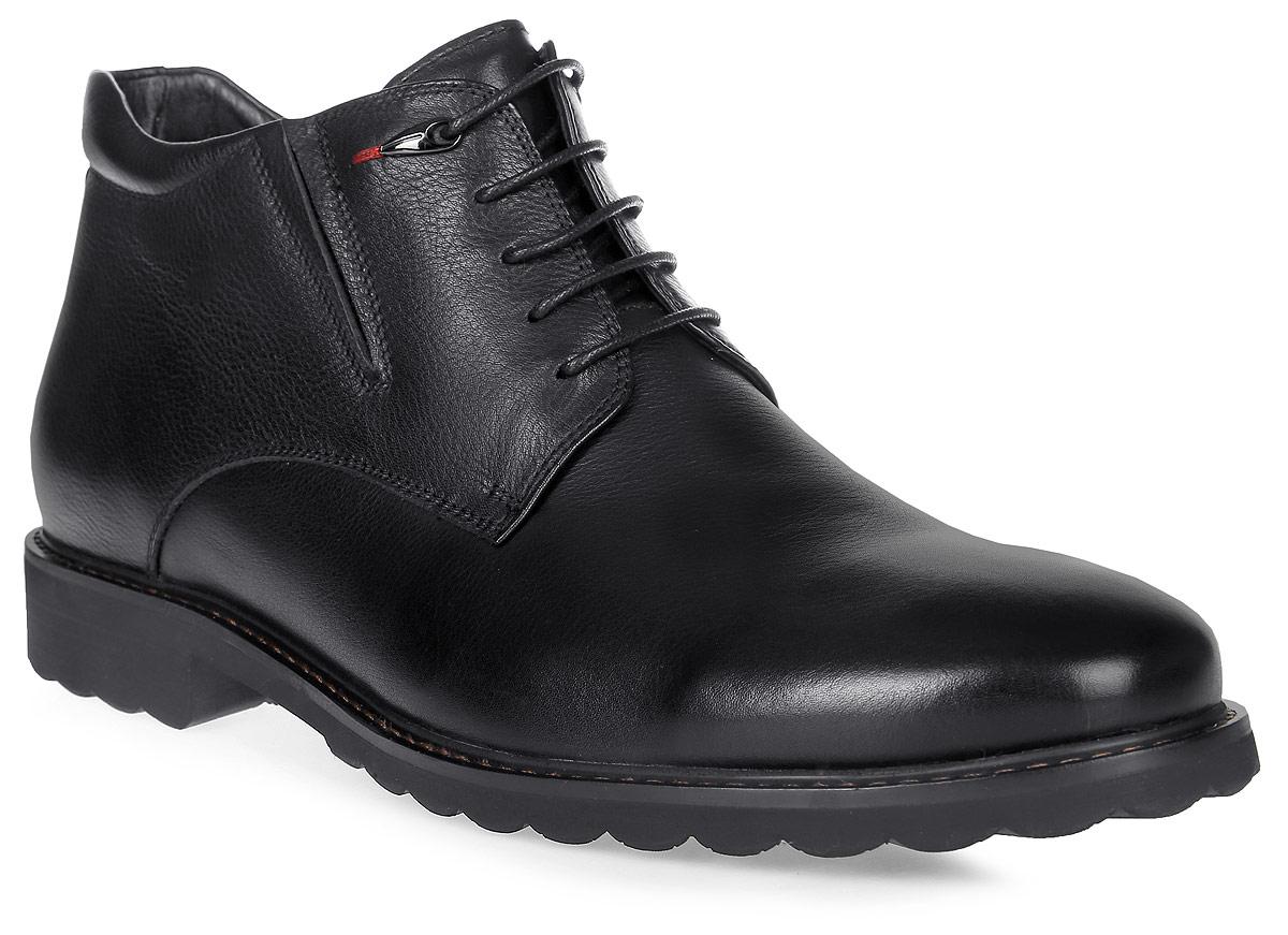 Ботинки мужские Renaissance Elite, цвет: черный. 16219Z-4-1F. Размер 4316219Z-4-1FСтильные мужские ботинки Renaissance выполнены из натуральной кожи. Удобная шнуровка надежно фиксирует модель на стопе. Такие ботинки отлично подойдут для тех, кто хочет подчеркнуть свою индивидуальность. В этой обуви вы будете чувствовать себя комфортно и в офисе, и на молодежной вечеринке.