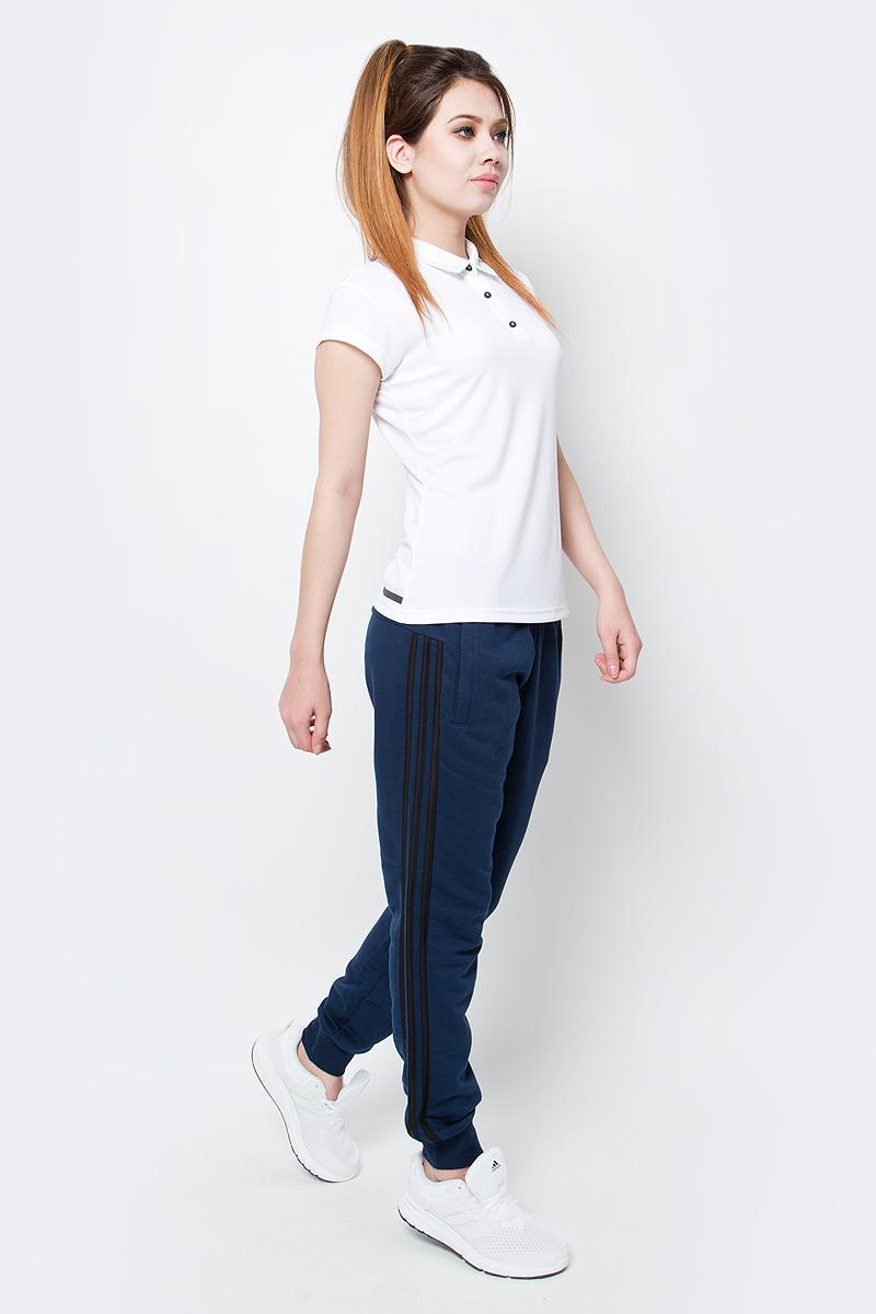 Поло женское Adidas, цвет: белый. BJ9564. Размер M (46/48)BJ9564Женское поло Adidas с технологией climachill которая сохранит прохладу даже при самых интенсивных нагрузках.
