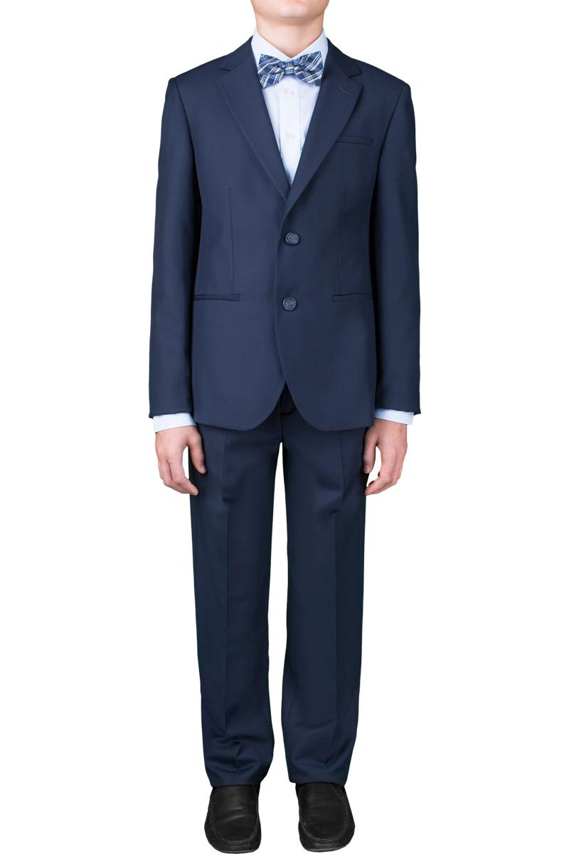 Костюм для мальчика Orby School, цвет: темно-синий. 70391_OLB_вар.2. Размер 134, 9-10 лет70391_OLB_вар.2Классический костюм-двойка для мальчика Orby School, состоящий из пиджака и брюк, изготовлен из высококачественной костюмной ткани (80% полиэстер, 20% вискоза). Подкладка изделия выполнена из полиэстера с добавлением вискозы. Пиджак с длинными рукавами, V-образным вырезом горловины и воротником с лацканами застегивается спереди на две пуговицы. Модель дополнена тремя декоративными карманами на лицевой стороне, одним прорезным внутренним карманом, шлицей на спинке. На рукавах предусмотрены манжеты с застежками-пуговицами. Брюки со стрелками зауженного силуэта спереди застегиваются на молнию и дополнительно на крючок и пуговицу. На поясе предусмотрены шлевки для ремня. Регулировка в поясе на эластичной тесьме с пуговицами обеспечивает идеальную посадку по фигуре ребенка. Спереди расположены два боковых втачных кармана с косыми краями. Низ брючин оформлен необработанным зигзагообразным кантом. Такая модель классического костюма-двойки отлично сочетается со строгими рубашками.