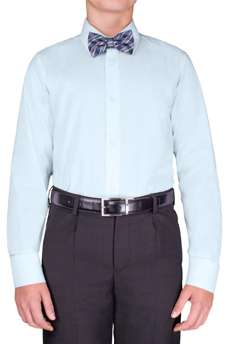 Рубашка для мальчика Orby School, цвет: голубой. 70404_OLB_вар.2. Размер 140, 9-10 лет70404_OLB_вар.2Классическая рубашка для мальчика Orby School выполнена из полиэстера и хлопка. Модель приталенного силуэта с отложным воротником и длинными рукавами застегивается спереди на пуговицы. На рукавах предусмотрены манжеты с застежками-пуговицами. Лицевая сторона изделия оформлена внизу вышивкой. Лаконичная прострочка завершает композицию. Такая модель отлично сочетается и с вязаными изделиями, и с пиджаками из костюмной ткани.