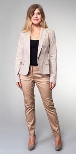 Жакет женский Milton, цвет: серый. WJ-3405V. Размер 42WJ-3405VКлассический однобортный жакет с английским воротником и лацканами, на полочках внутренние карманы.