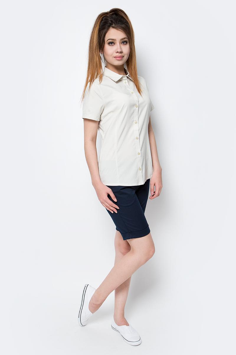 Рубашка женская Jack Wolfskin Sonora Shirt, цвет: бежевый. 1402381-5017. Размер L (48)1402381-5017Рубашка Sonora Shirt выполнена из 100% полиэстера. Ткань мягкая, легкая, приятная на ощупь и эластичная, она обладает защитой от ультрафиолета (UPF 30+) и быстро сохнет. Рубашка застегивается на пуговицы, имеет отложной воротник и короткие стандартные рукава. Спереди расположен накладной нагрудный карман. Модель выполнена в однотонном дизайне и дополнена логотипом бренда. Такая рубашка идеально подходит для путешествий, отдыха или на каждый день.