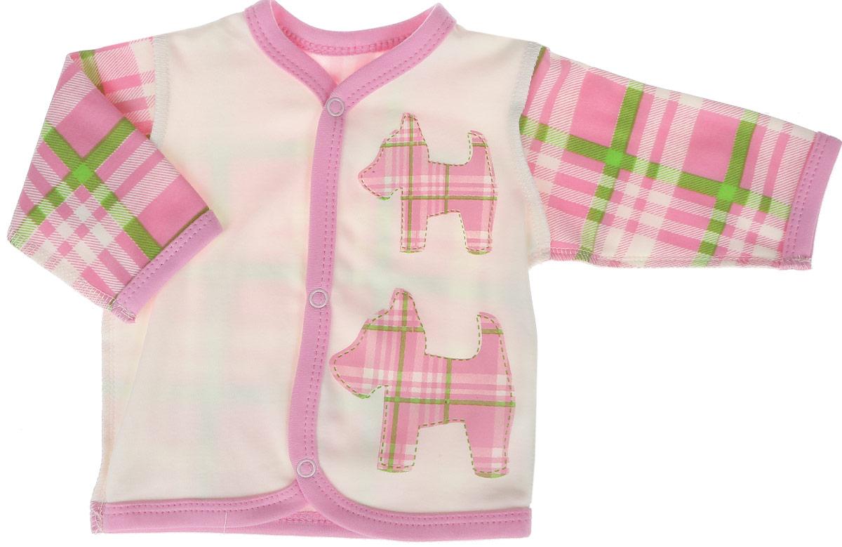 Кофточка для девочки КотМарКот, цвет: розовый. 7213. Размер 747213Кофточка для девочки КотМарКот выполнена из качественного материала. Модель с длинными рукавами застегивается на кнопки.