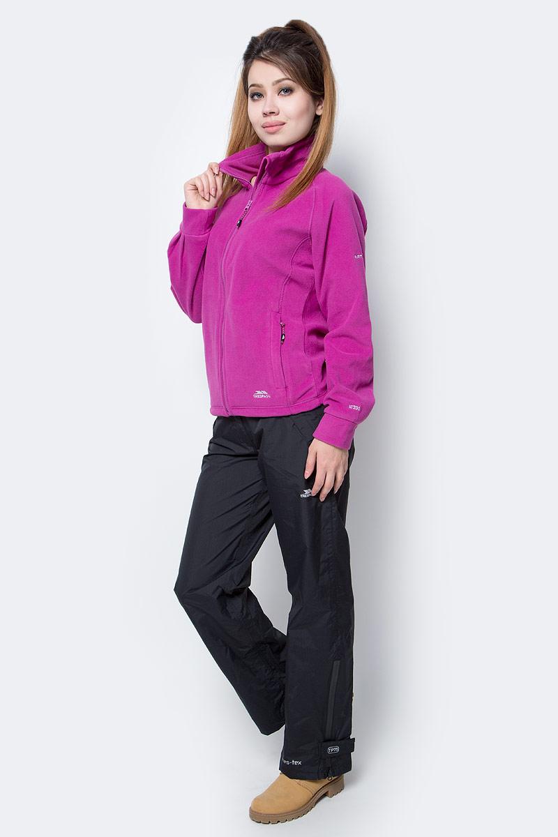 Толстовка женская Trespass Clarice, цвет: фиолетовый. FAFLFLJ20003. Размер XS (42)FAFLFLJ20003Отличная женская толстовка Trespass Clarice выполнена из флиса 280 г/м2 с застежкой на молнию и боковыми карманами. Модель с воротником-стойкой и длинными рукавами.