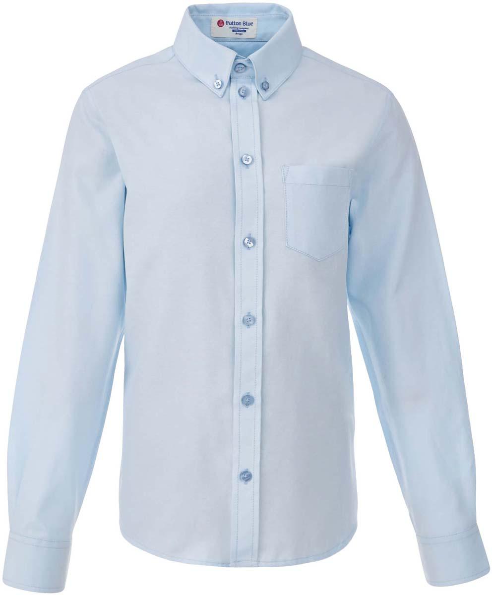 Рубашка для мальчика Button Blue, цвет: голубой. 217BBBS23041800. Размер 122, 7 лет217BBBS23041800Рубашка для мальчика - основа повседневного школьного образа! Школьные рубашки от Button Blue - это качество и комфорт, отличный внешний вид, удобство в уходе, высокая износостойкость. Рубашка с длинными рукавами и отложным воротничком застегивается на пуговицы. Готовясь к школьному сезону, вам стоит купить рубашки в трех-четырех цветах, чтобы разнообразить будни ученика.