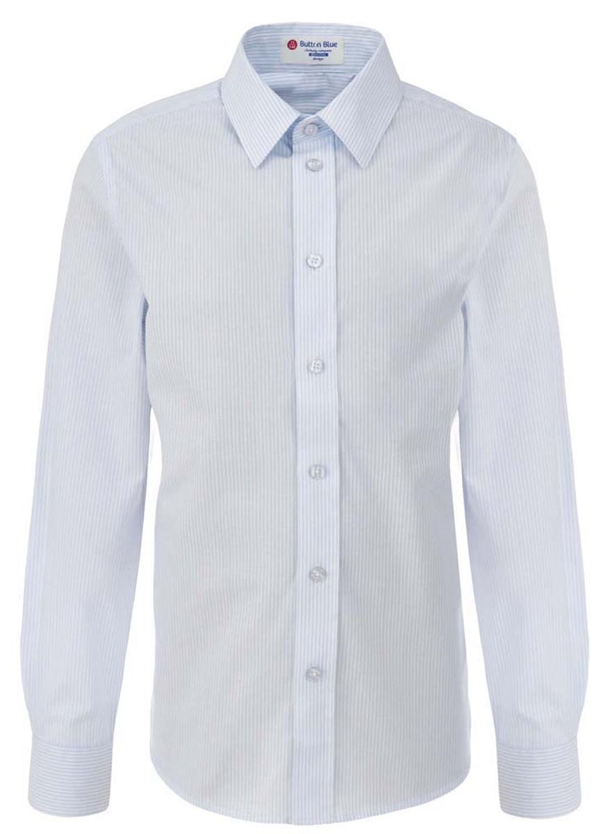 Рубашка для мальчика Button Blue, цвет: белый, светло-голубой. 217BBBS23010205. Размер 164, 14 лет217BBBS23010205Рубашка для мальчика - основа повседневного школьного образа! Школьные рубашки от Button Blue - это качество и комфорт, отличный внешний вид, удобство в уходе, высокая износостойкость. Рубашка с длинными рукавами и отложным воротничком застегивается на пуговицы. Готовясь к школьному сезону, вам стоит купить рубашки в трех-четырех цветах, чтобы разнообразить будни ученика.