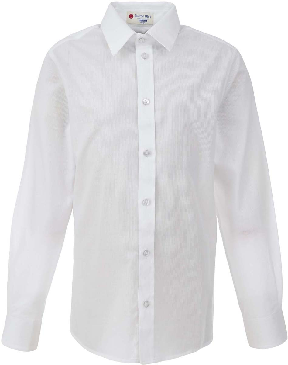 Рубашка для мальчика Button Blue, цвет: белый. 217BBBS23030200. Размер 146, 11 лет217BBBS23030200Рубашка для мальчика - основа повседневного школьного образа! Школьные рубашки от Button Blue - это качество и комфорт, отличный внешний вид, удобство в уходе, высокая износостойкость. Рубашка с длинными рукавами и отложным воротничком застегивается на пуговицы. Готовясь к школьному сезону, вам стоит купить рубашки в трех-четырех цветах, чтобы разнообразить будни ученика.