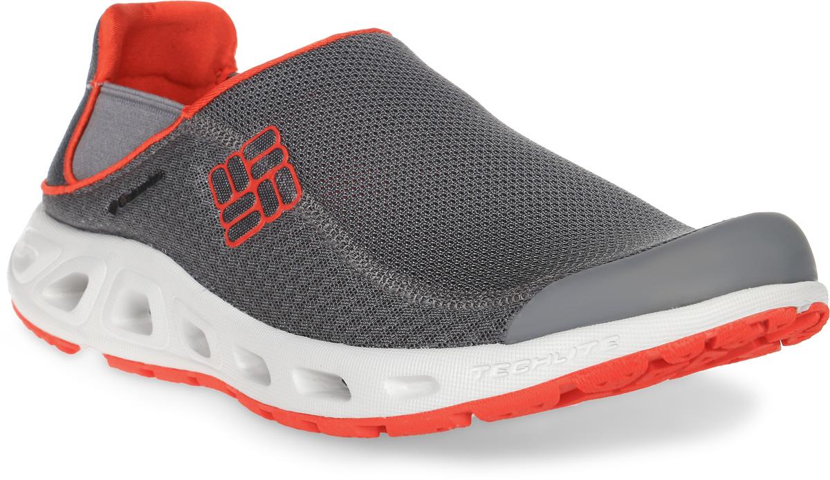 Кроссовки мужские Columbia Ventslip II, цвет: темно-серый. 1619991-030. Размер 11,5 (46)1619991-030Водные мужские кроссовки Ventslip II от Columbia прекрасно подойдут для активного отдыха.Верх модели выполнен из быстросохнущей текстильной сетки с защитой мыса и усиленным бампером и оформлен логотипом и названием бренда. Модель фиксируется на ноге благодаря эластичным вставкам.Подкладка исполнена из текстиля. Анатомическая стелька из мягкого ЭВА-материала позволяет ногам чувствовать себя наиболее комфортно.Промежуточная подошва из материала Techlite обеспечивает отличную амортизацию и поддержку. Дренажная подошва обеспечивает вентиляцию и отток воды. Подметка выполнена из резины Omni-Grip, разработанной специально для ходьбы по влажным поверхностям. Такие кроссовки подойдут для активного отдыха как на суше, так и в воде, и у воды.