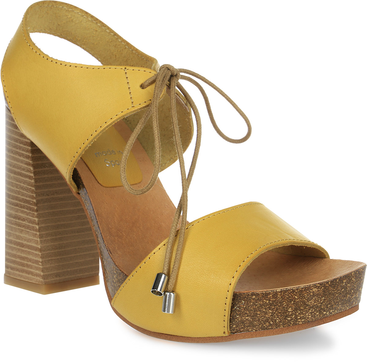 Босоножки женские Dino Ricci, цвет: желтый. DR-911-62-02. Размер 41DR-911-62-02Стильные босоножки от Dino Ricci придутся вам по душе! Модель изготовлена из натуральной кожи. Ремешок надежно зафиксирует изделие на ноге. Стильные и удобные босоножки - необходимая вещь в гардеробе каждой женщины.