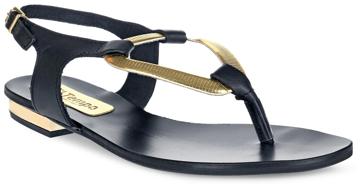 Сандалии женские El Tempo, цвет: черный, золотистый. ESA1. Размер 39ESA1_ENN11_306_NEGROМодные сандалии от El Tempo изготовлены из натуральной гладкой кожи. Ремешок спрямоугольной застежкой-пряжкой отвечает за надежную фиксацию модели на ноге. Длинаремешка регулируется за счет болта. Внутренняя поверхность и стелька выполнены из мягкойнатуральной кожи, гарантирующей комфорт при движении.