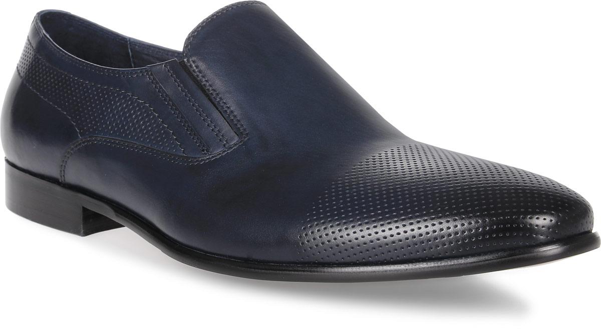 Туфли мужские El Tempo, цвет: темно-синий. CRS62_138-2-503. Размер 40CRS62_138-2-503_BLUEЭлегантные мужские туфли от El Tempo покорят вас своим удобством. Модель выполнена из высококачественной натуральной кожи и оформлена перфорацией. Эластичные резинки, расположенные на подъеме, надежно фиксируют обувь на ноге. Стелька и подкладка из натуральной кожи позволяют ногам дышать. Рифление на подошве обеспечивает отличное сцепление с различными поверхностями.Стильные туфли прекрасно впишутся в ваш гардероб.