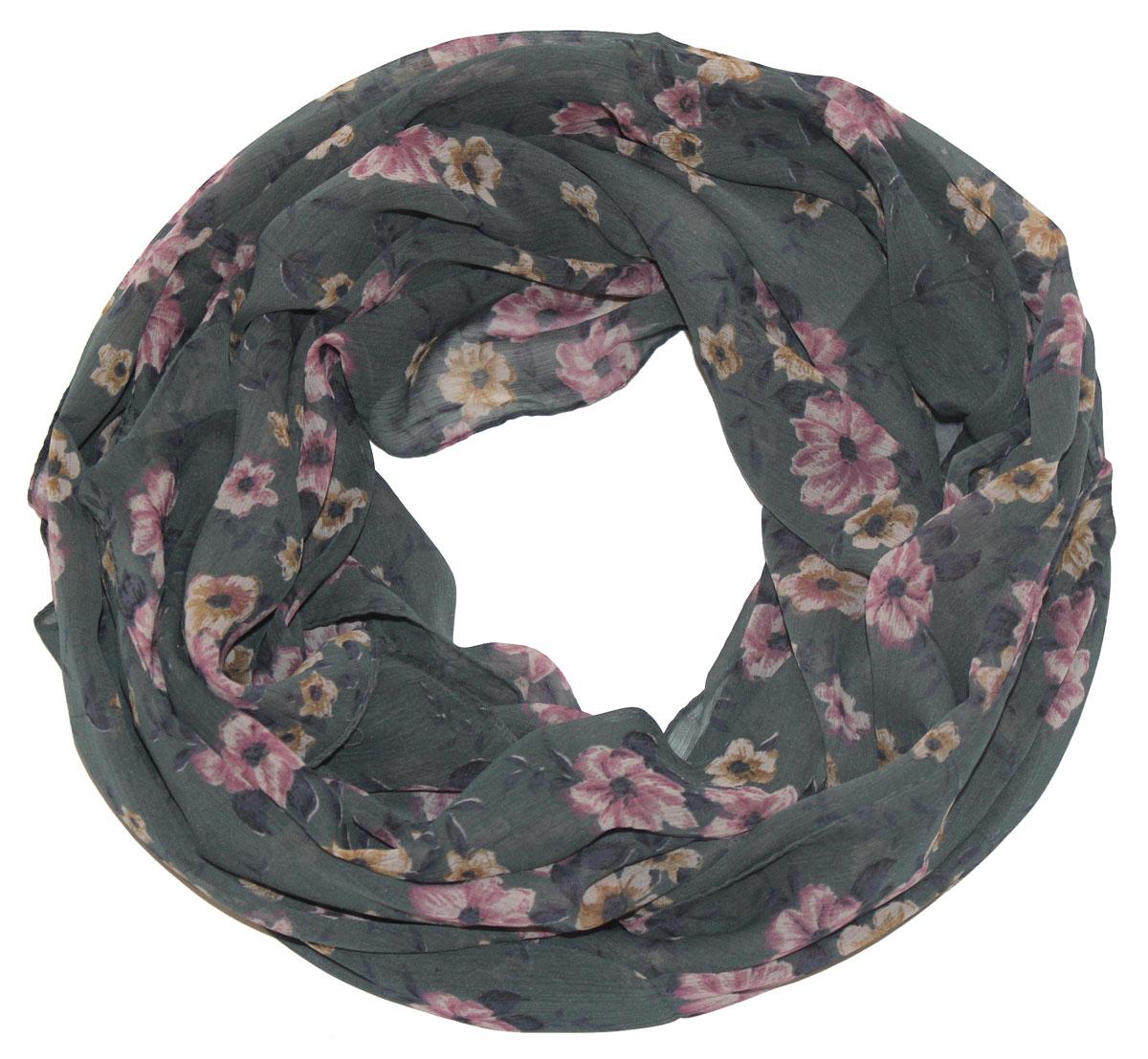 Шарф женский Ethnica, цвет: серый, розовый. 262040. Размер 50 см х 170 см262040Стильный шарф привлекательной расцветки изготовлен из 100% вискозы. Он удачно дополнит ваш гардероб и поможет создать новый повседневный образ, добавить в него яркие краски. Отличный вариант для тех, кто стремится к самовыражению и новизне!