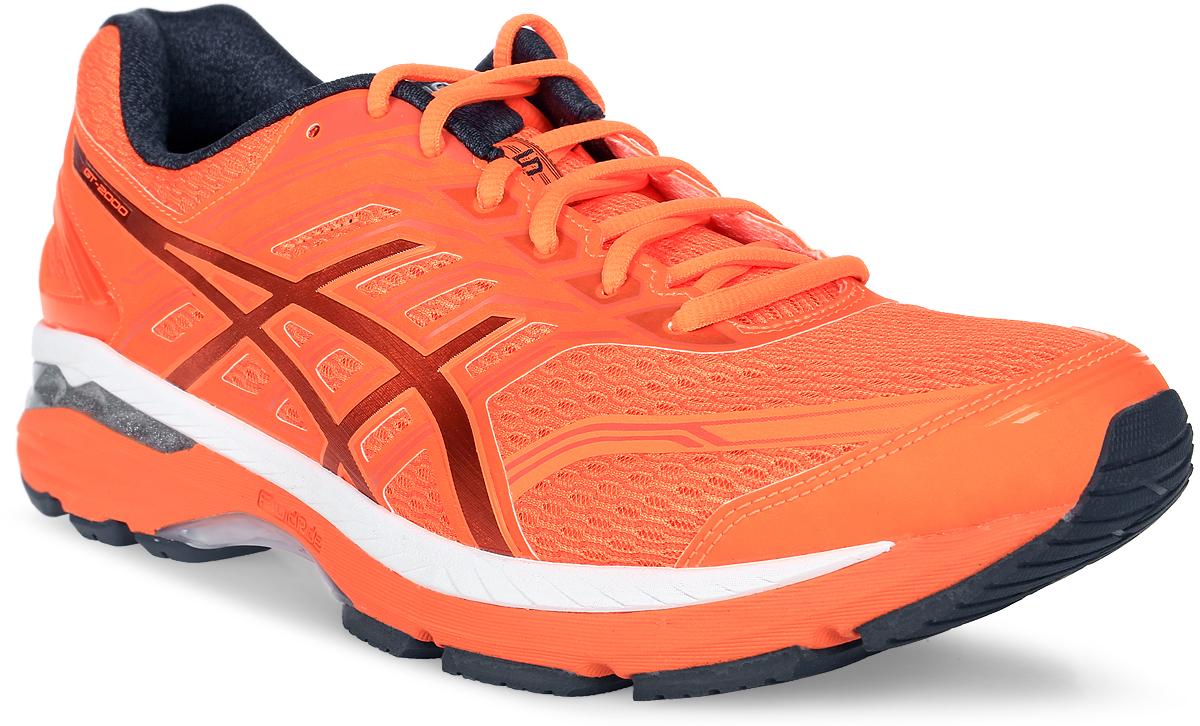 Кроссовки для бега мужские Asics Gt-2000 5, цвет: оранжевый. T733N-3095. Размер 9H (42)T733N-3095Кроссовки для бега мужские Asics Gt-2000 5 - облегченная беговая модель, надежны и никогда не подведут, сколько бы километров вы ни пробежали. GT-2000 5 - вот ваш выбор в случае плоской стопы. Эти кроссовки всегда помогут держать темп и достичь цели. Они гарантируют надежную поддержку от старта и до самой зоны отдыха. Кроссовки GT-2000 5 созданы для надежности и комфорта при беге на длинные дистанции. Внешние амортизаторы GEL, расположенные в задней части подошвы, делают каждое приземление мягче и идеально подходят для плоской стопы. Подошва FluidRide сочетает целый ряд великолепных преимуществ: пружинистость, амортизация, а также малый вес и исключительная долговечность. Стабилизирующая технология не дает стопе заваливаться внутрь, формируя более правильную технику бега. Кроме того, кроссовки создают дополнительную поддержку благодаря внутренним эластичным элементам, которые обхватывают среднюю часть ступни. С этими эластичными элементами и надежным захватом пятки вы сможете наслаждаться надежной посадкой по ноге.