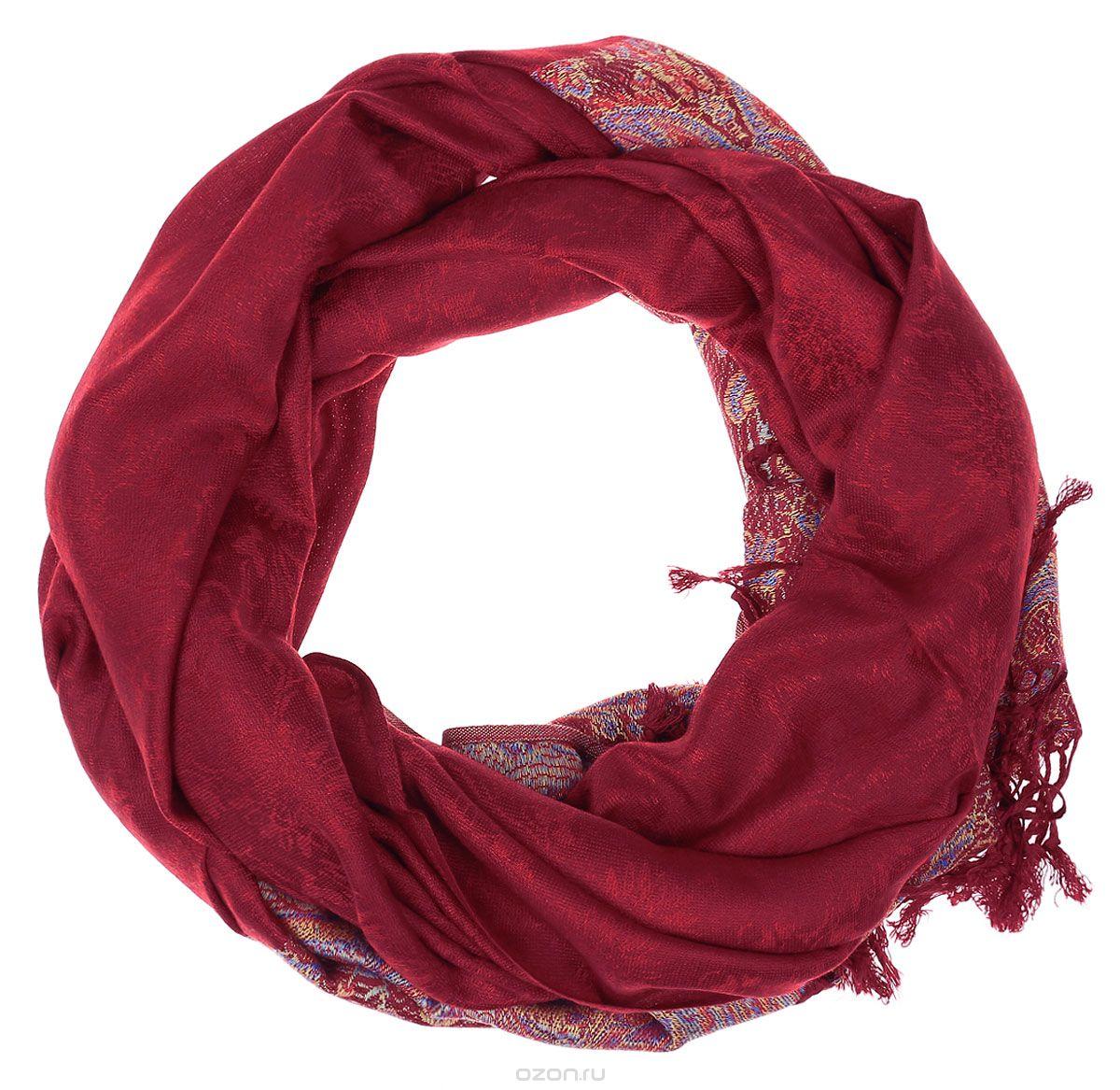 Палантин женский Vitta pelle, цвет: красный. Ro04PC3668/1. Размер 90 см х 180 смRo04PC3668/1Палантин женский Vitta pelle выполнен из качественного материала. Модель оформлена оригинальным принтом.